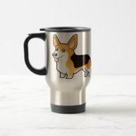 Cartoon Pembroke Welsh Corgi Coffee Mugs