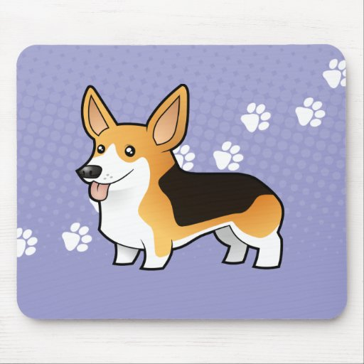 Cartoon Pembroke Welsh Corgi Mouse Pads
