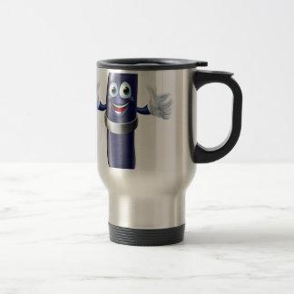 Cartoon pen mascot mugs