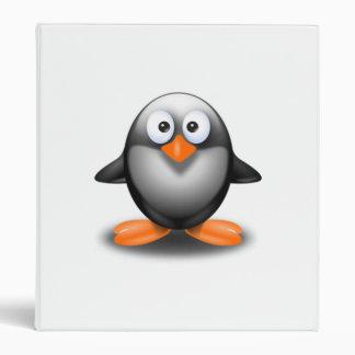 Cartoon Penguin Binder