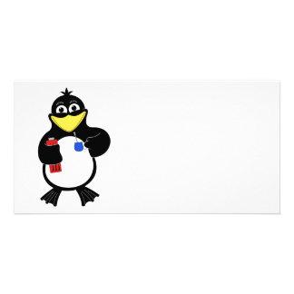 Cartoon penguin card