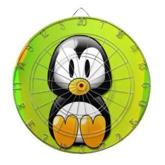 Cartoon Penguin Dartboard With Darts