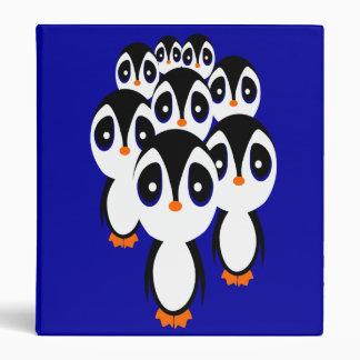 Cartoon Penguin Family Grouping Binder
