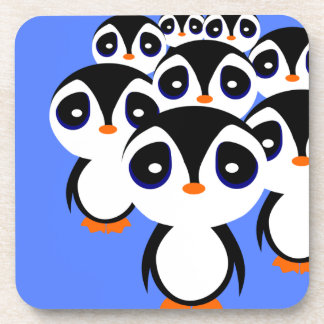 Cartoon Penguin Family Grouping Coaster