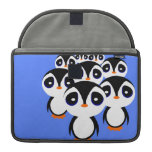 Cartoon Penguin Family Grouping Sleeve For MacBook Pro