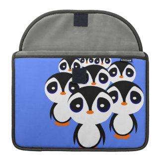 Cartoon Penguin Family Grouping Sleeves For MacBooks