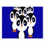 Cartoon Penguin Family Grouping Photo