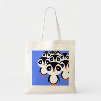 Cartoon Penguin Family Grouping Tote Bag
