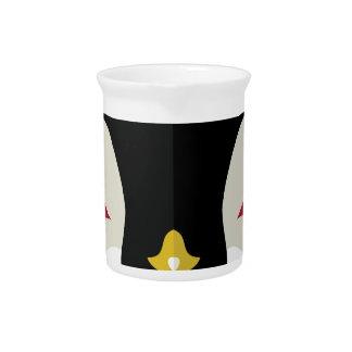 Cartoon Penguin Head Beverage Pitchers