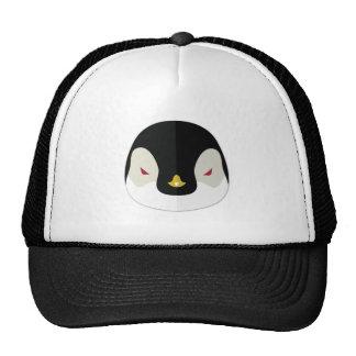 Cartoon Penguin Head Trucker Hat