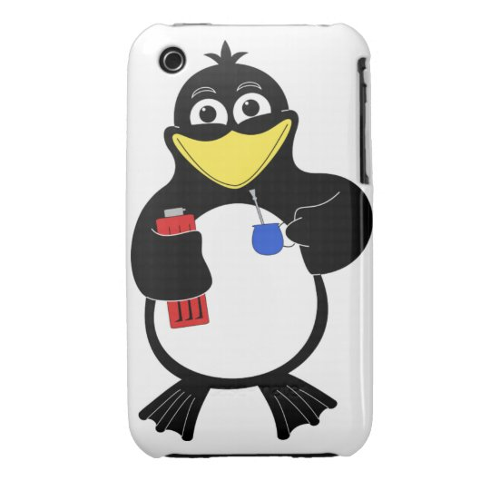 Cartoon penguin iPhone 3 Case-Mate case