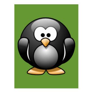 Cartoon Penguin Postcard