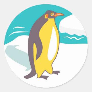 Cartoon Penguin Round Stickers