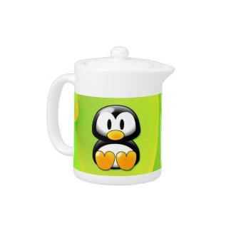 Cartoon Penguin Teapot