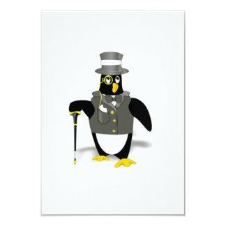 Cartoon Penguin Wearing a Tuxedo Personalized Invitations