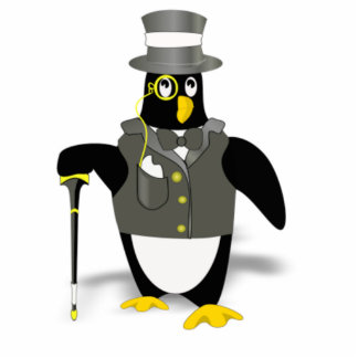 Cartoon Penguin Wearing a Tuxedo Cut Outs