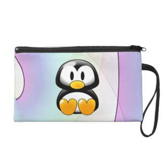 Cartoon Penguin Wristlet Purse