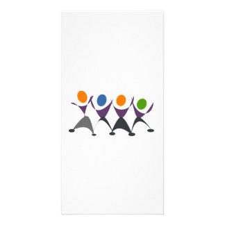 Cartoon People Dancing Photo Greeting Card