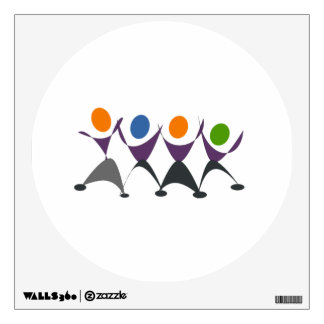 Cartoon People Dancing Wall Skins