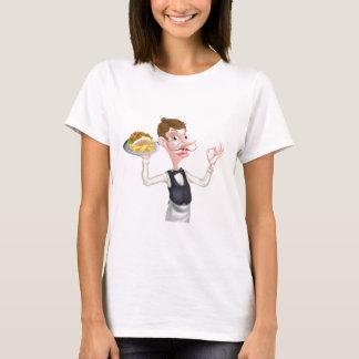 Cartoon Perfect Kebab and Chips Waiter T-Shirt