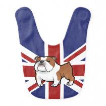 Cartoon Pet with Flag Bib