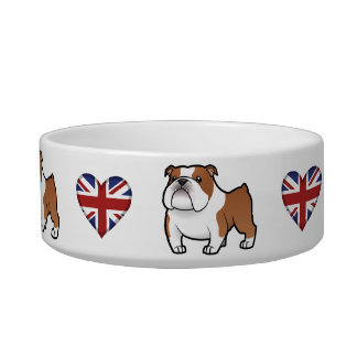 Cartoon Pet with Flag Bowl