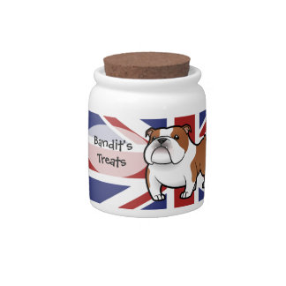 Cartoon Pet with Flag Candy Dish