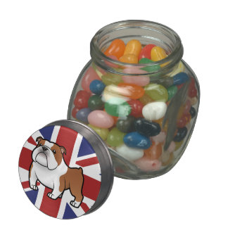 Cartoon Pet with Flag Jelly Belly Candy Jar