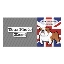 Cartoon Pet with Flag Card