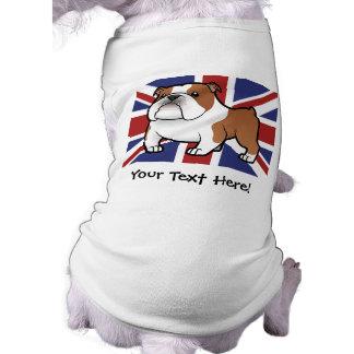 Cartoon Pet with Flag Dog Clothes