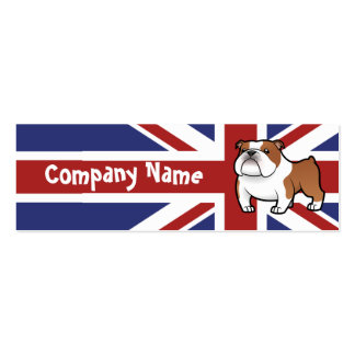 Cartoon Pet with Flag Double-Sided Mini Business Cards (Pack Of 20)