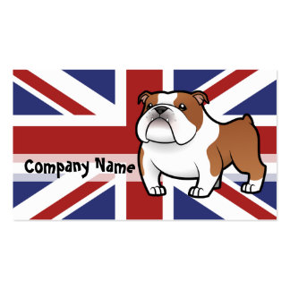 Cartoon Pet with Flag Double-Sided Standard Business Cards (Pack Of 100)