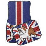 Cartoon Pet with Flag Floor Mat
