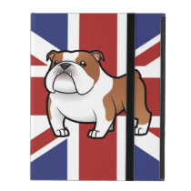 Cartoon Pet with Flag iPad Cover