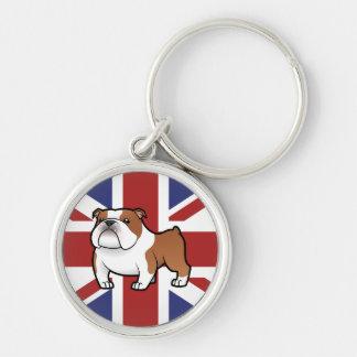 Cartoon Pet with Flag Keychain