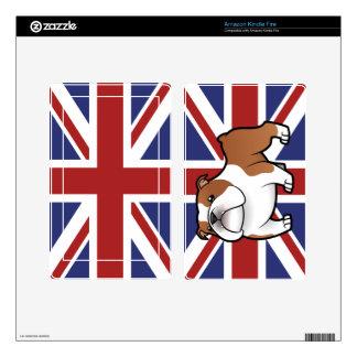 Cartoon Pet with Flag Kindle Fire Skins