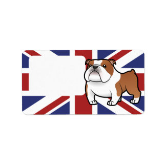 Cartoon Pet with Flag Labels