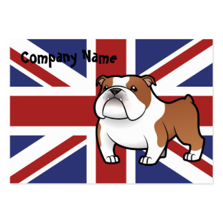 Cartoon Pet with Flag Large Business Cards (Pack Of 100)