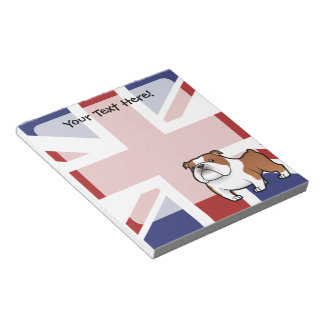 Cartoon Pet with Flag Notepad