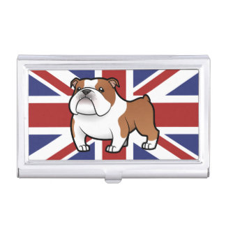 Cartoon Pet with Flag Business Card Cases
