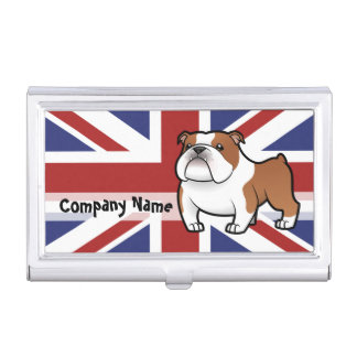 Cartoon Pet with Flag Business Card Holders