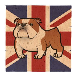 Cartoon Pet with Flag Coasters