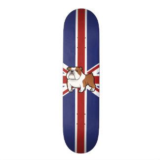 Cartoon Pet with Flag Skateboard