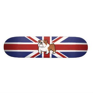 Cartoon Pet with Flag Skateboard Deck