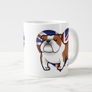 Cartoon Pet with Flag Jumbo Mug