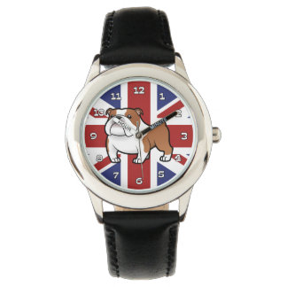 Cartoon Pet with Flag Wristwatch