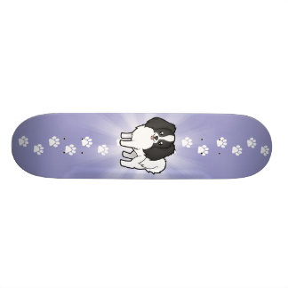 Cartoon Phalene / Japanese Chin Skateboard