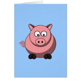 Cartoon Pig Card