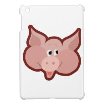 Cartoon pig iPad mini case