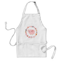 Cartoon Pig Mandala apron